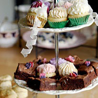 Delicious cakes from a vintage tea party