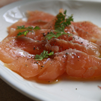 Citrus cured sea trout