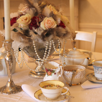 A tea party with a vintage theme